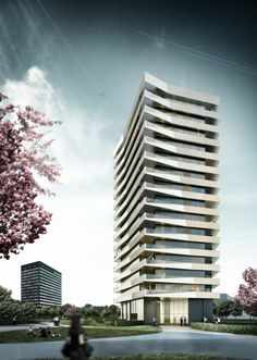 Residential tower Pandion Munich BRT Architekten 2009 #highrise #living http://rdt.ac/e375