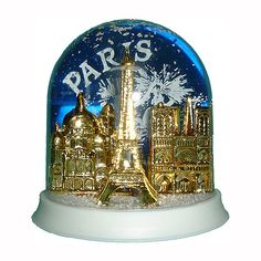 paris festive snowglobe - made in france