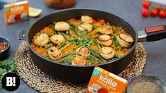 Seafood Paella, Plant Based Recipes, The Creator, Healthy Eating, Tasty, Vegan, Chicken, Youtube, Drink