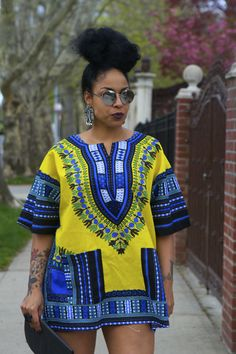 Unisex Dashiki Yellow African Shirt by tribalgroove on Etsy ~Latest African fashion, Ankara, kitenge, African women dresses, African prints, African men's fashion, Nigerian style, Ghanaian fashion ~DKK