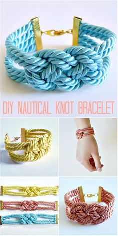Easy DIY Nautical Knot Bracelet 2019 How to make a knotted satin cord bracelet nautical colorful The post Easy DIY Nautical Knot Bracelet 2019 appeared first on Jewelry Diy.