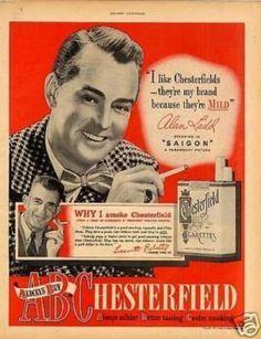 Chesterfield cigarette poster