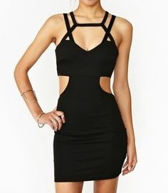 Bodycon cutout