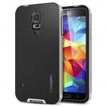 Carcasa Samsung Galaxy S5 Spigen SGP Neo Hybrid Gris $ 58.100,00