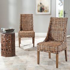 @Overstock - The St. Thomas Collection brings a piece of the resorts to any room with sloping arm chair (Set of 2) design featuring beautifully brown wicker, a sturdy wood frame and a chic design brings a fresh look to any island decor.http://www.overstock.com/Home-Garden/St-Thomas-Indoor-Wicker-Brown-Sloping-Arm-Chairs-Set-of-2/6347613/product.html?CID=214117 $247.99