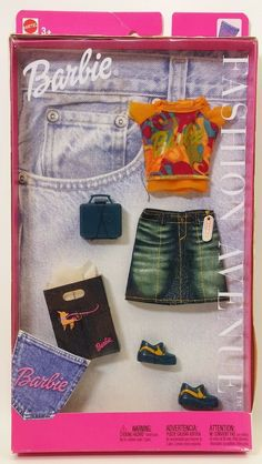 Barbie Fashion Avenue Blues styles lot of Mattel 2001 New In Box for sale online Barbie Mermaid Doll, Barbie Dolls Diy, Barbie Toys, Barbie And Ken, Vintage Barbie Clothes, Doll Clothes, Girls Fashion Clothes, Fashion Dolls, Barbie Images