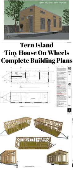 #TinyHouse #TinyHomes // Tern Island Tiny House On Wheels - Complete Building Plans // #tinyhousemovement #blueprint #homes #DIY #ad #tinyliving #tinyhomeonwheelsdiy