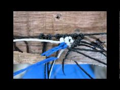 flor en macrame tutorial paso a paso - YouTube
