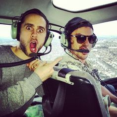 #ShareIG Me and @shannonleto in a helicopter!  What traffic!!!! :)