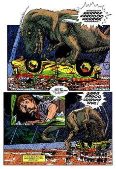 Jurassic Park #3 (Topps Comics - July 1993)    Writer: Walt Simonson  Illustrators: Gil Kane (Pencils) & George Pérez (Inks)