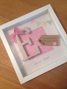 Personalised Baby Girl Frame - Birth - Christening Gift ��