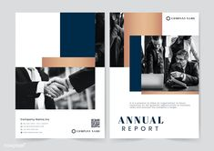 Professional business annual report template by Rawpixel on Envato Elements Annual Report Layout, Annual Reports, Company Banner, Cover Report, Corporate Brochure Design, Name Card Design, Booklet Design, Banner Vector, Social Media Template