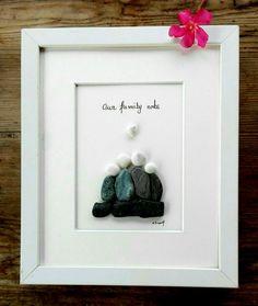 Pebble art Family 4 Family 4 gift Gift for by pebbleartSmiljana