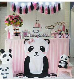 Panda Birthday Party, Girls Birthday Party Themes, Panda Party, Bear Party, First Birthday Parties, Birthday Party Decorations, Girl Birthday, Happy Birthday, Baby Shower Apps