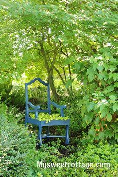 Chair as garden art