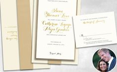 """""""Grown Sexy"""" theme of the #bachelorwedding easily portrayed in these elegant invitations #seanandcat #weddinginvitations"""