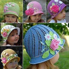 Fancy flowers hat by JillCrochets on Etsy