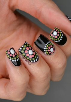 Since Polka dot Pattern are extremely cute & trendy, here are some Polka dot Nail designs for the season. Get the best Polka dot nail art,tips & ideas here. Dot Nail Art, Polka Dot Nails, Nail Art Diy, Easy Nail Art, Diy Nails, Polka Dots, Blue Nails, Dot Nail Designs, Flower Nail Designs