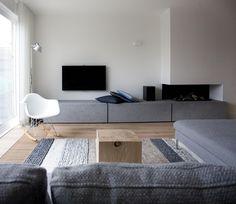 beton in combinatie materialen Woonkamer inspiratie Nadine Bonhof Pinterest