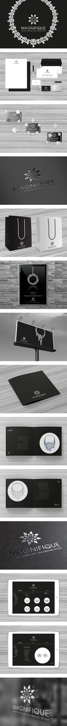MAGNIFIQUE Luxury Jewellery Multibrand Store by Ven Klement, via Behance. Tres magnifique #jewelry #identity #packaging #branding PD