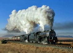 May 2017 - Steam locomotives used by the South African Railways. See more ideas about South african railways, Steam locomotive and Locomotive. Electric Locomotive, Steam Locomotive, South African Railways, Electric Train Sets, Old Steam Train, Bonde, Old Trains, Train Pictures, Steam Engine