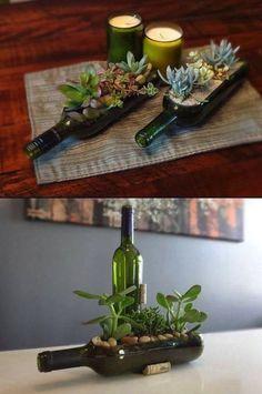 25 adornos con botellas de vidrio sencillamente geniales.   #manualdiades #botellas #reciclar #creatividad