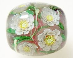 Chamomile Sunray Flower Satake Glass Lampwork by AyakoGlassGarden