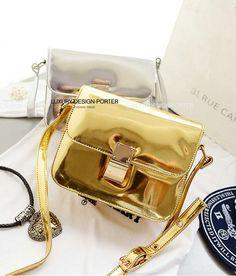 Designer Chic Metallic Hologram Women handbag Crossbody Bag leatherette Purse IT BAG Bolsa