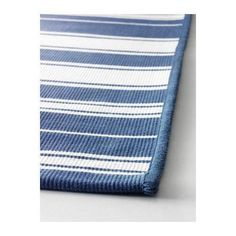 Teppich blau weiß gestreift  MORUM Teppich flach gewebt, drinnen/drau, drinnen/draußen beige ...