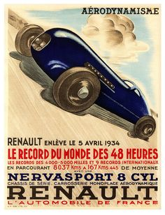 The Power of Aerodynamism by paul.malon on Flickr. Via Flickr: 1934 Renault.