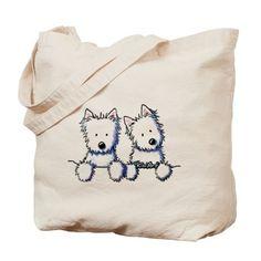 Pocket Westie Duo Tote Bag on CafePress.com
