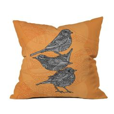 I pinned this Valentina Ramos Three Little Birds Pillow from the Valentina Ramos event at Joss and Main!