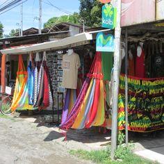 Shopping in Cahuita, Costa Rica,