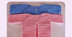 Free Newborn Baby Cardigan Crochet Pattern.. Simple Yoke single crochet pattern with decorative star stich bodice. Free crochet Baby patterns