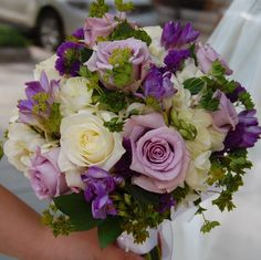 Ivory and Purple | by Monday Morning Flower and Balloon Co