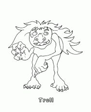 BlueBonkers - Mythical Animals and Beasts Coloring Sheets - Troll Coloring Sheets, Coloring Pages, Mythical Creatures, Norway, Beast, Mosaic, Moose Art, Fairy, Fantasy