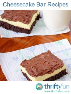 A thin layer of cheesecake in your sweet bars makes for an elegant and delicious dessert for anytime. This page contains cheesecake bar recipes.