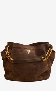 Prada Charcoal Shoulder Bag
