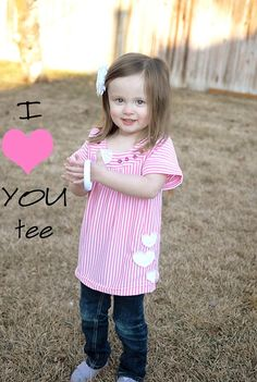DIY Clothes Refashion: DIY I {heart} You tee