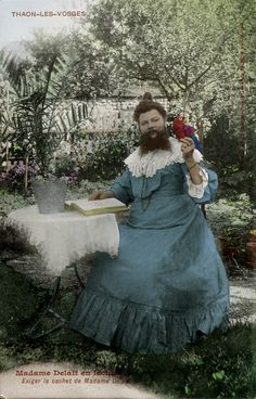 Clémentine Delait, la plus célèbre femme à barbe de la Belle Epoque