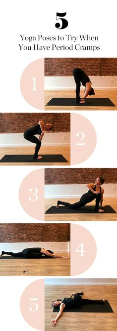 Try out these 5 yoga poses for period cramps to help you feel better in ten minutes.