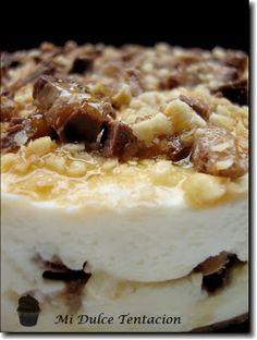 Tarta de queso y chocolatinas Mars