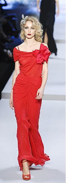 Christian Dior - 2008 - red dress I could rock this