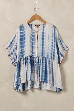 Shibori Silk Blouse, Blue - anthropologie.eu   It's no wonder we adore this delightful silk blouse, endlessly flattering, ladylike and perfect for every occassion