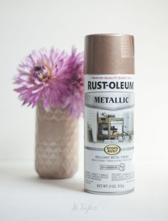 rose-gold-spray-paint-2 Rustoleum Metallic, Rustoleum Spray Paint, Metallic Spray Paint, Spray Paint Crafts, Spray Paint Colors, Spray Painting, Copper Rose, Copper Color, Rose Gold