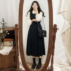 Korean Girl Fashion, Korean Street Fashion, Ulzzang Fashion, Korea Fashion, Muslim Fashion, Look Fashion, Cute Casual Outfits, Modest Outfits, Pretty Outfits