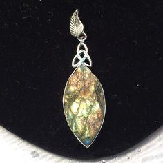Gorgeous Sterling Silver Rough Labradorite Pendant As pictured Labradorite Jewelry