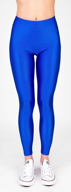 PCP Jaqueline - blue shiny leggings