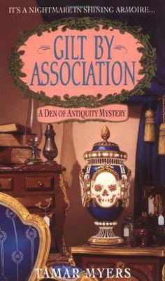 Gilt By Association (A Den of Antiquity Mystery) by Tamar Myers http://www.amazon.com/dp/0380782375/ref=cm_sw_r_pi_dp_BNbAvb0DG1123