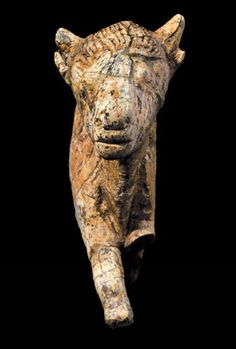 Another view of bison sculpture found at Zaraysk, Russia -- carved from mammoth bone.